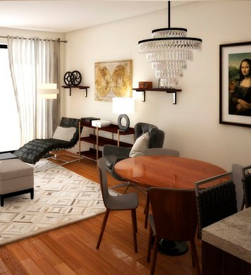 Online design Transitional Combined Living/Dining by Marina S. thumbnail