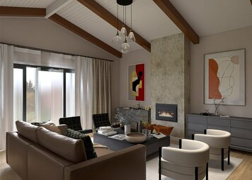 Online design Contemporary Living Room by Nathan H. thumbnail