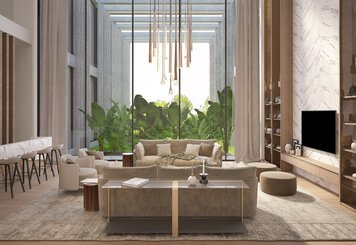 Online design Glamorous Living Room by Hatice U. thumbnail