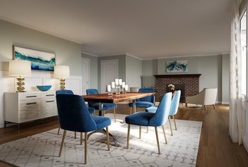 Online design Contemporary Combined Living/Dining by Lacie H. thumbnail