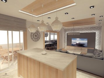 Online design Contemporary Combined Living/Dining by Andrej R. thumbnail