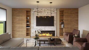 Online design Modern Living Room by Tiara M. thumbnail