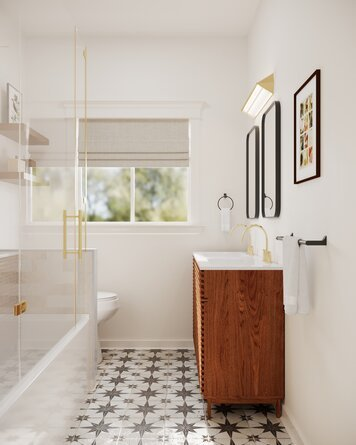 Online design Eclectic Bathroom by Erin R. thumbnail