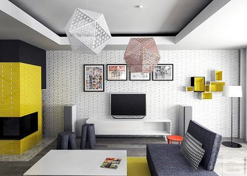 Online design Contemporary Living Room by Alicja S. thumbnail