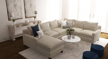 Online design Modern Combined Living/Dining by Deandra G. thumbnail