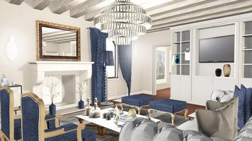 Online design Traditional Living Room by Ilaria C. thumbnail