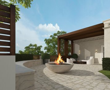 Online design Transitional Patio by Nathalie I. thumbnail