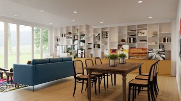 Online design Modern Combined Living/Dining by Drew F. thumbnail