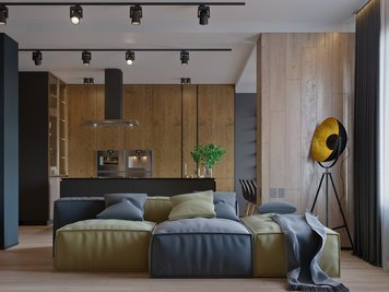 Online design Contemporary Living Room by Lachin G. thumbnail
