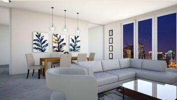 Online design Modern Combined Living/Dining by Daisy A. thumbnail