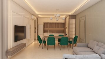 Online design Contemporary Combined Living/Dining by Monika K. thumbnail