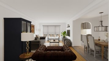 Online design Contemporary Combined Living/Dining by Farzaneh K. thumbnail
