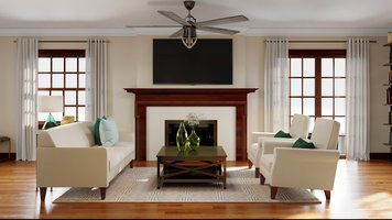 Online design Transitional Living Room by Sarah M. thumbnail
