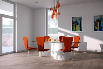 Online design Contemporary Dining Room by Kira L. thumbnail
