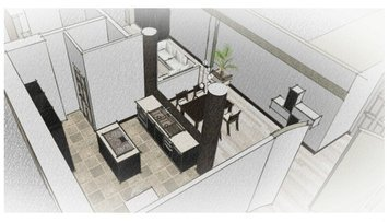 Online design Modern Combined Living/Dining by Chiara B. thumbnail