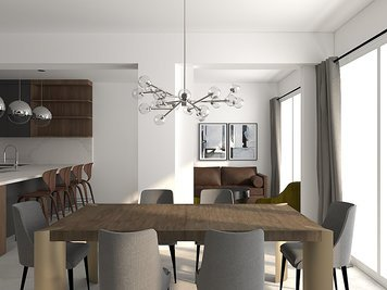 Online design Contemporary Combined Living/Dining by Jessica S. thumbnail