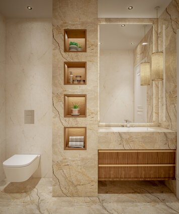 Online design Transitional Bathroom by Nada M. thumbnail