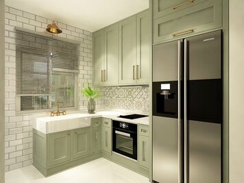 Online design Country/Cottage Kitchen by Mahirah H. thumbnail