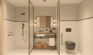 Online design Modern Bathroom by Nileta K. thumbnail