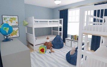 Online design Modern Kids Room by Jodi W. thumbnail