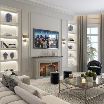 Online design Transitional Living Room by Nathalie I. thumbnail