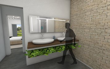 Online design Contemporary Bathroom by Gericel D. thumbnail