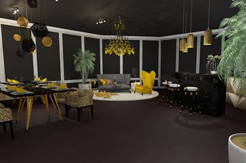 Online design Eclectic Combined Living/Dining by Marthe L. thumbnail