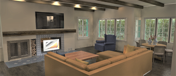 Online design Transitional Combined Living/Dining by Shanthi O. thumbnail