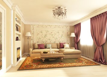 Online design Traditional Living Room by Luba K. thumbnail