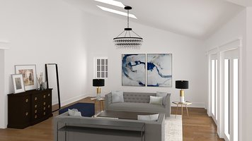 Online design Transitional Living Room by Jessica S. thumbnail