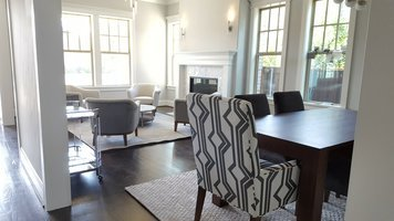Online design Transitional Combined Living/Dining by Shelley C. thumbnail