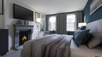 Online design Modern Bedroom by Mary B.  thumbnail