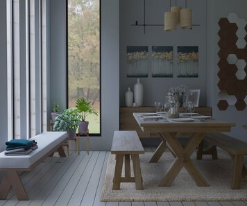 Online design Transitional Dining Room by Nada M. thumbnail