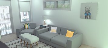 Online design Eclectic Living Room by Merry M. thumbnail