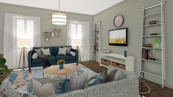 Online design Transitional Living Room by Leah M. thumbnail