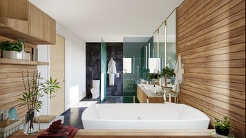 Online design Contemporary Bathroom by Sonia C. thumbnail