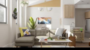 Online design Modern Living Room by Ebere O. thumbnail