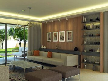 Online design Modern Living Room by Farah H. thumbnail