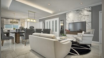 Online design Contemporary Combined Living/Dining by Aida A. thumbnail