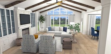 Online design Transitional Combined Living/Dining by Laura A. thumbnail
