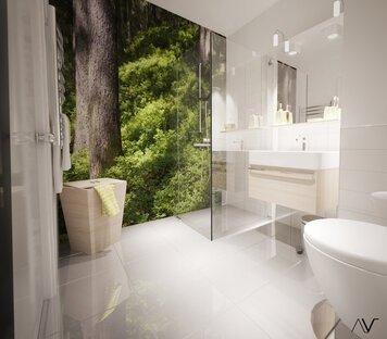 Online design Modern Bathroom by Dominika Z. thumbnail