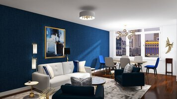 Online design Glamorous Combined Living/Dining by Morgan W. thumbnail
