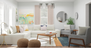 Online design Traditional Living Room by Ebere O. thumbnail