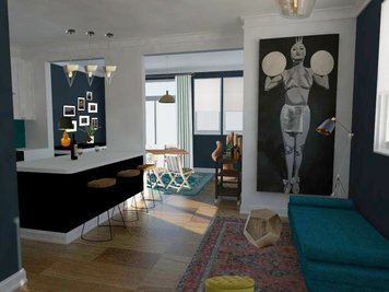 Online design Eclectic Living Room by Vera B. thumbnail
