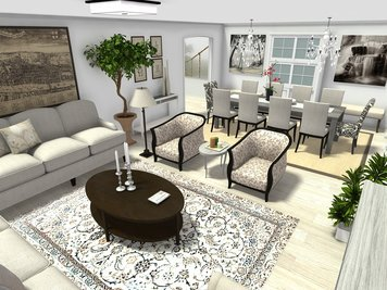 Online design Country/Cottage Combined Living/Dining by Mary B.  thumbnail