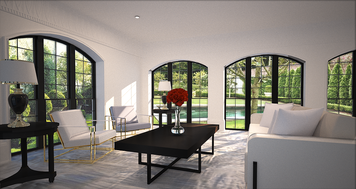 Online design Glamorous Living Room by Hannah C. thumbnail