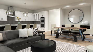 Online design Modern Combined Living/Dining by Taron H. thumbnail