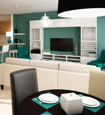 Online design Contemporary Combined Living/Dining by Marina S. thumbnail