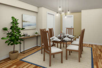 Online design Modern Combined Living/Dining by Narathas P. thumbnail