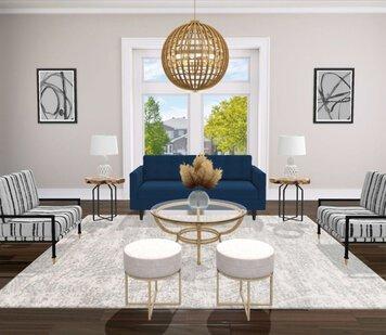 Online design Eclectic Living Room by Liz C. thumbnail